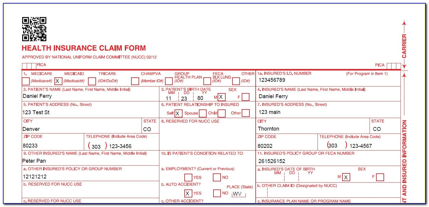 Blank Fillable Cms 1500 Form