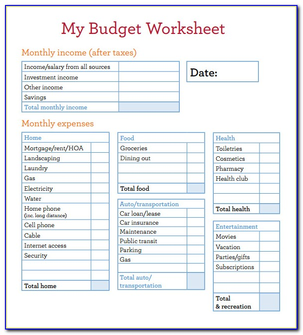 Budget Spreadsheet Templates For Ipad