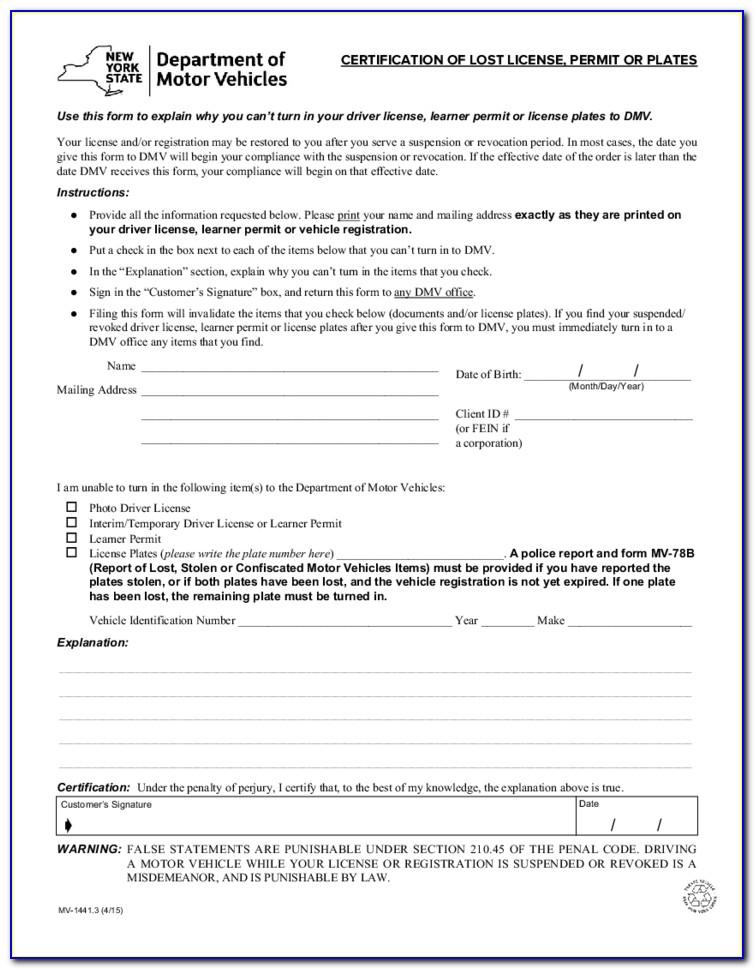 California Dmv Lost Registration Form
