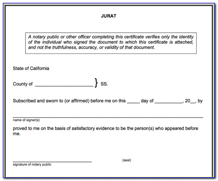California Notary Forms Copy Certification