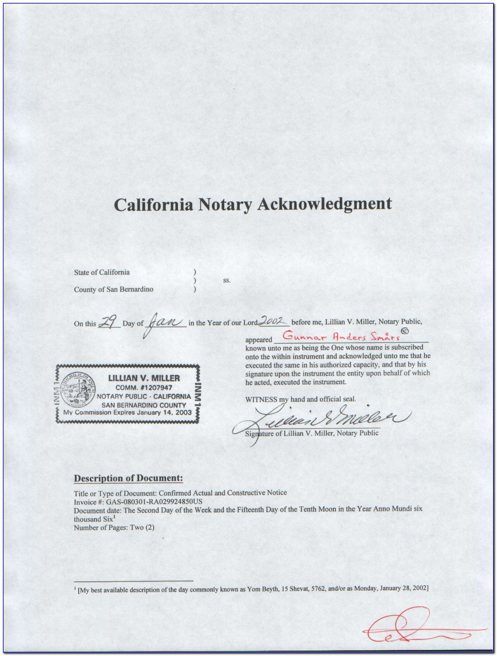 California Notary Forms Pdf