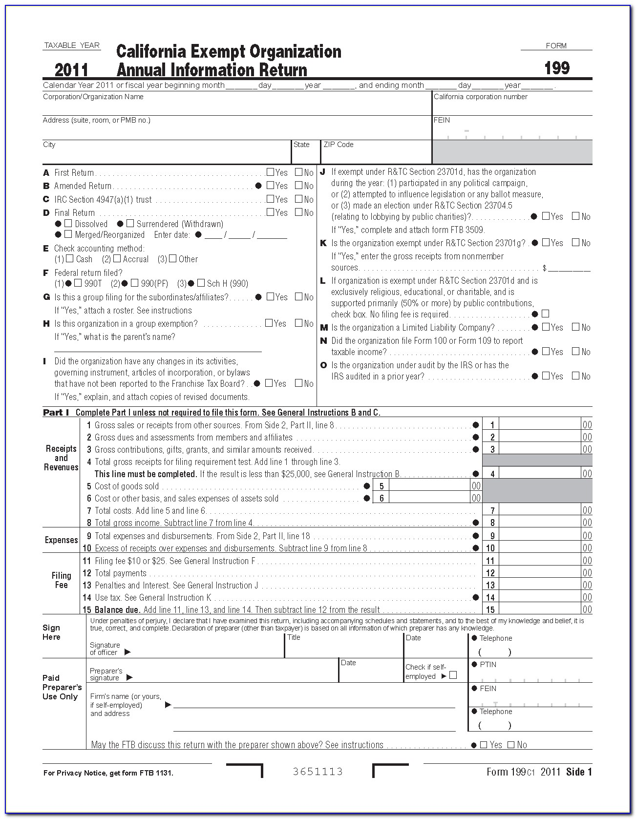 California State Tax Forms 2016