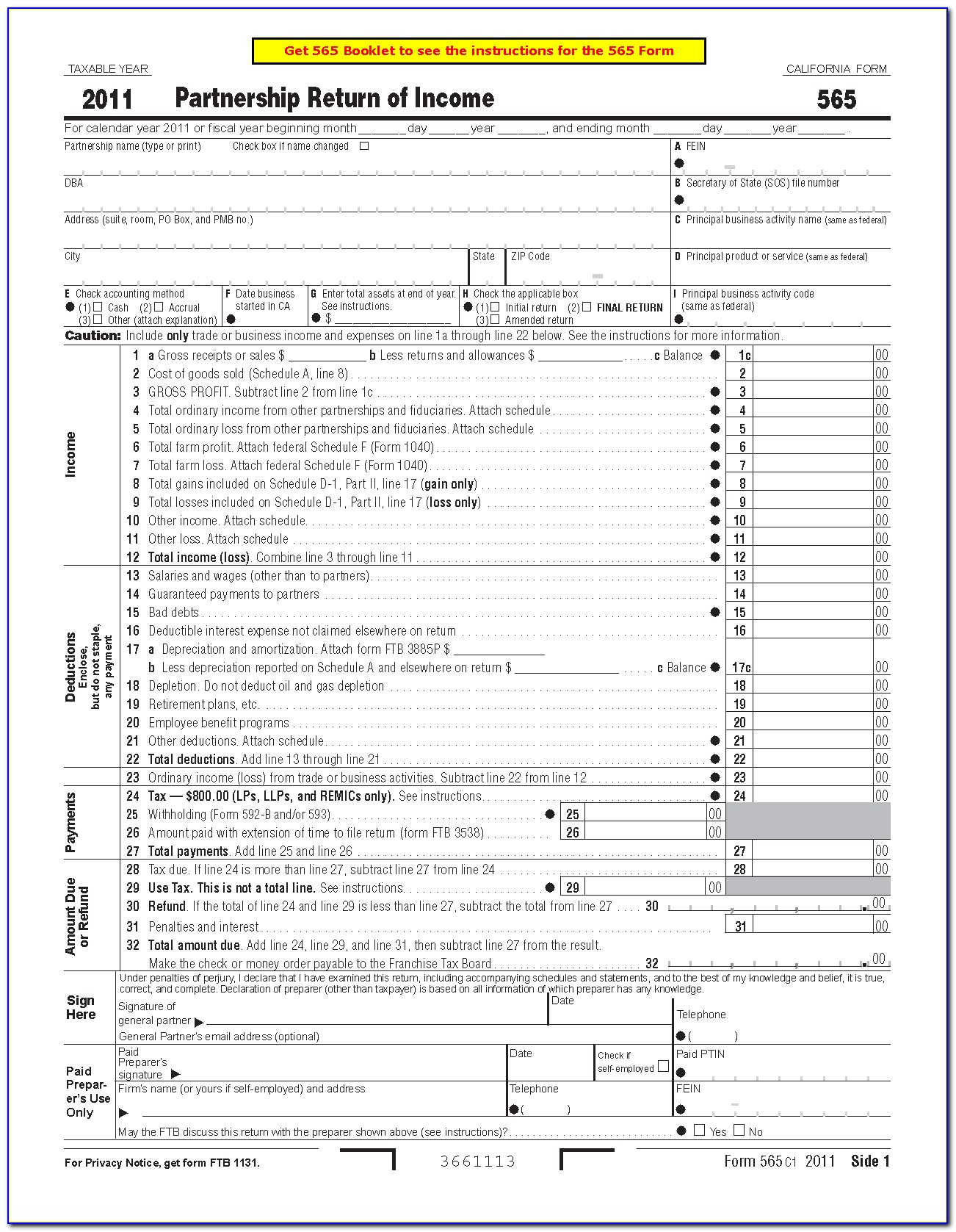 California State Tax Forms 540 Instructions