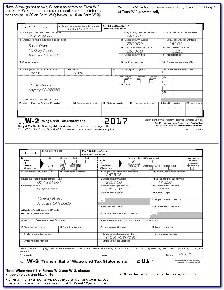 California W2 Form 2015