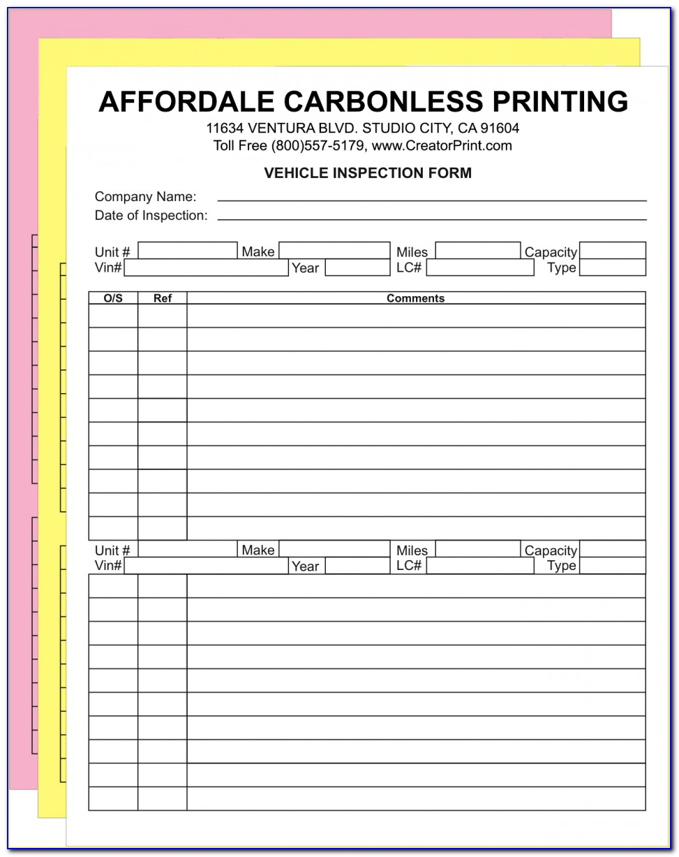 Carbonless Form Printing Service