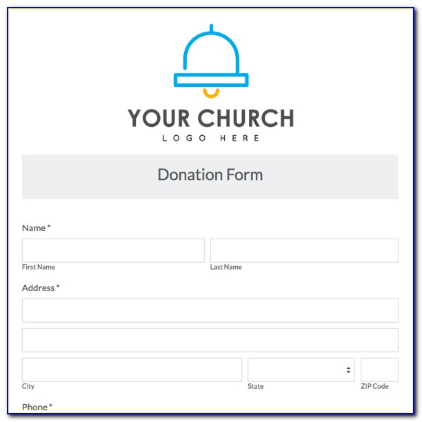 Church Donation Receipt Form