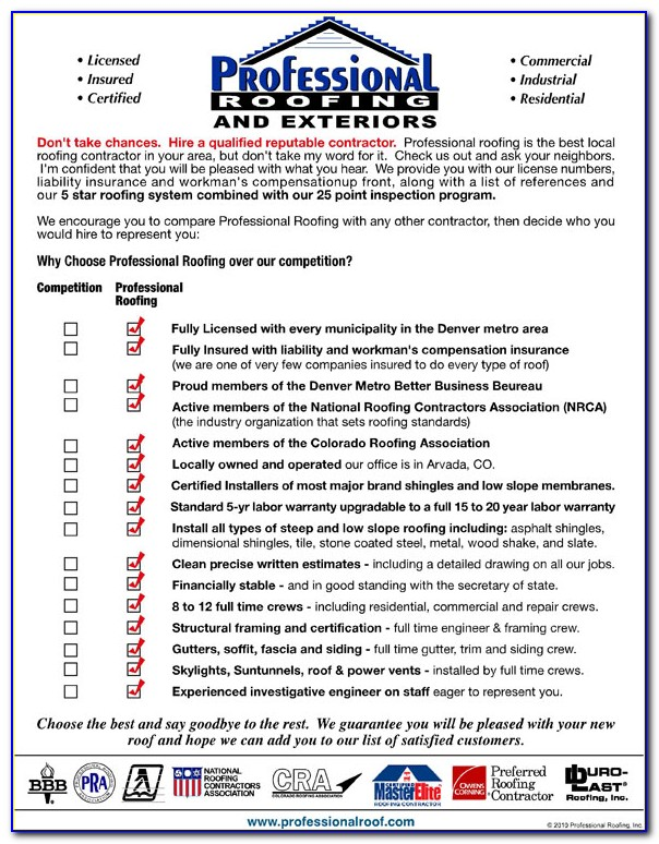 Citizens Insurance Roof Inspection Form