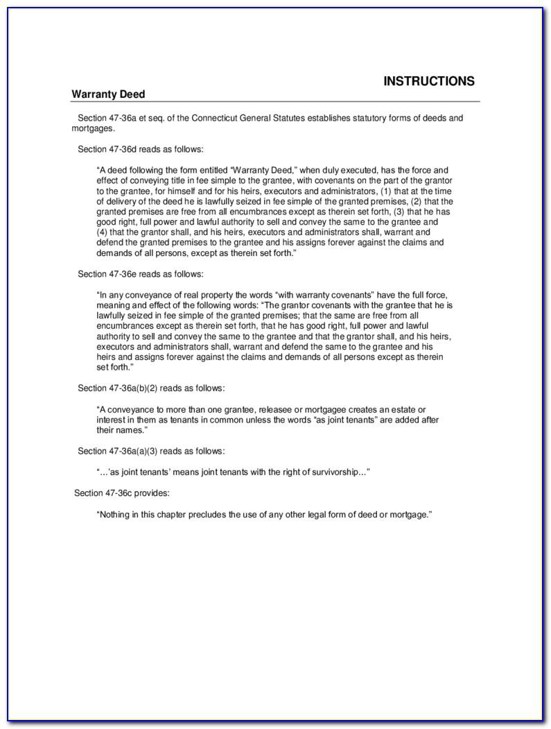 Colorado General Warranty Deed Form