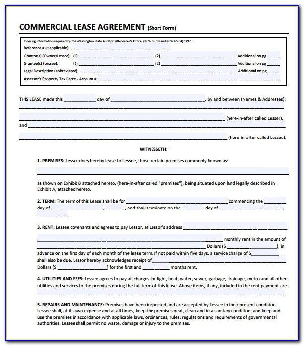 Commercial Lease Agreement Ontario Short Form