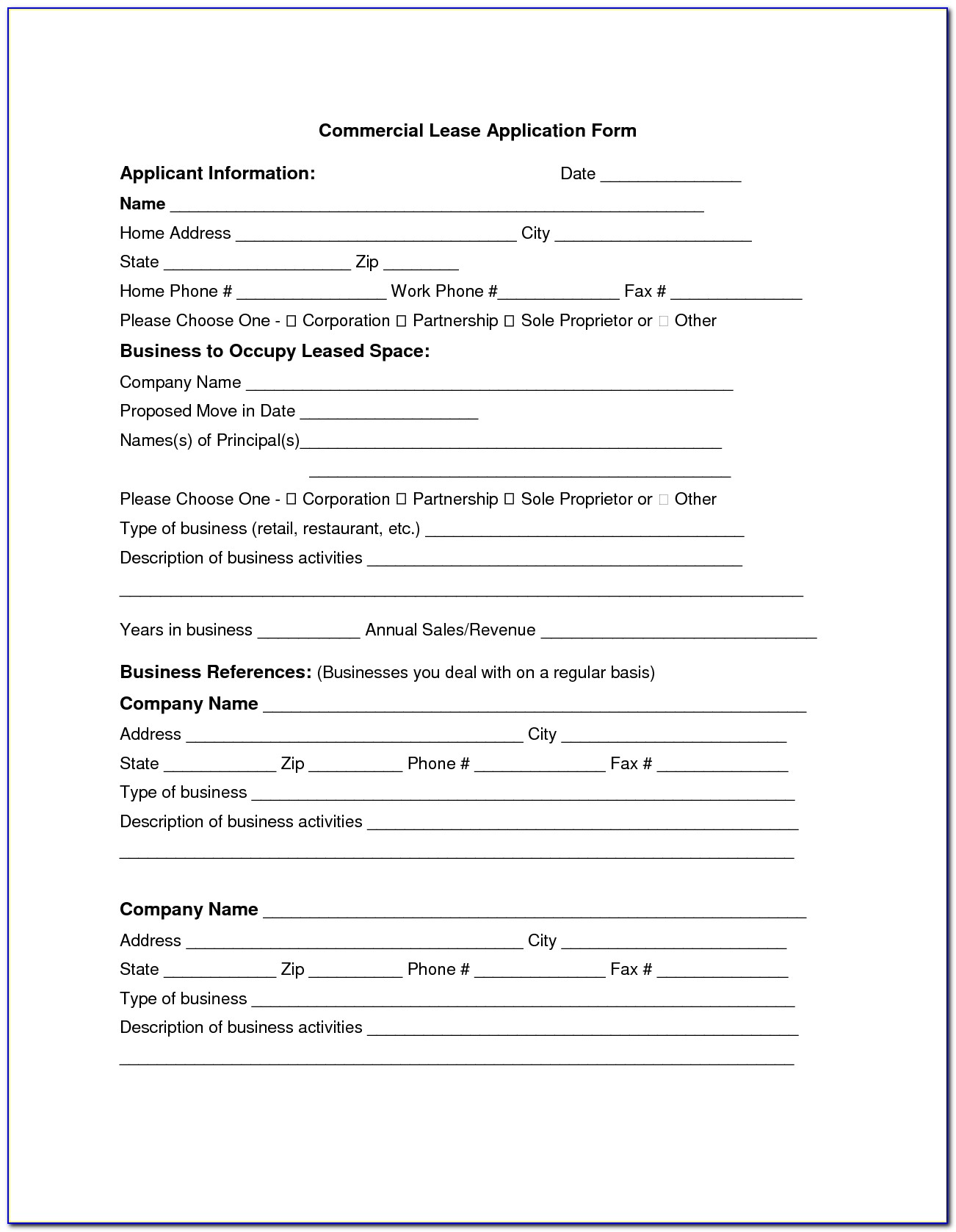 Commercial Real Estate Forms