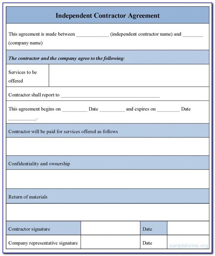 Contractor Estimate Forms Templates