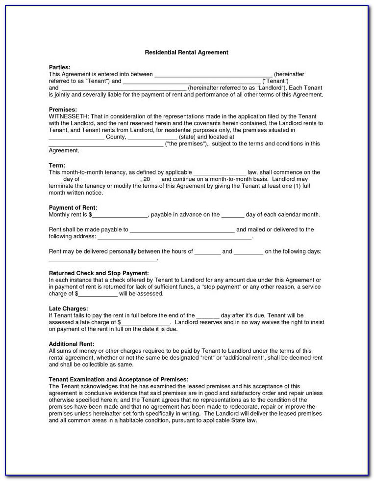 Copier Rental Agreement Form