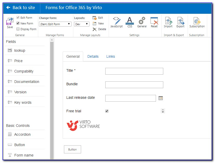 Creating Forms In Sharepoint Designer 2013
