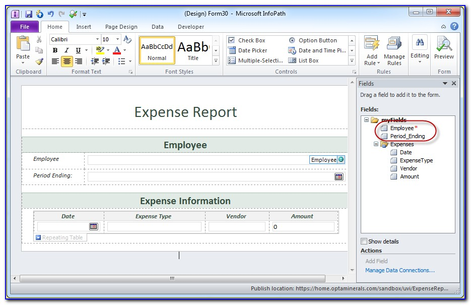 Creating Forms Using Sharepoint Designer 2013