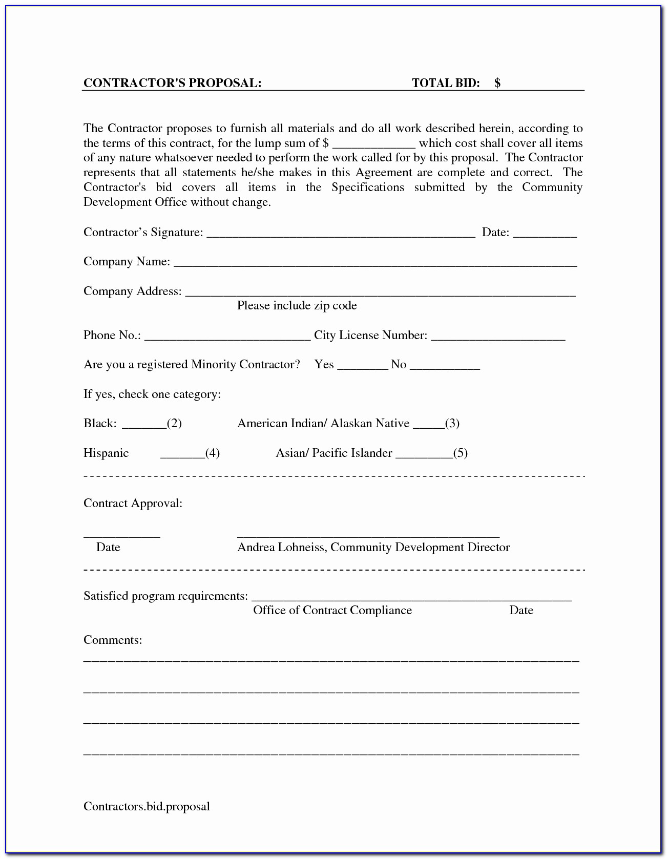 Drywall Contractor Forms
