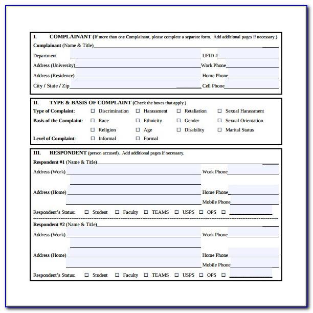Eeoc Complaint Forms Discrimination