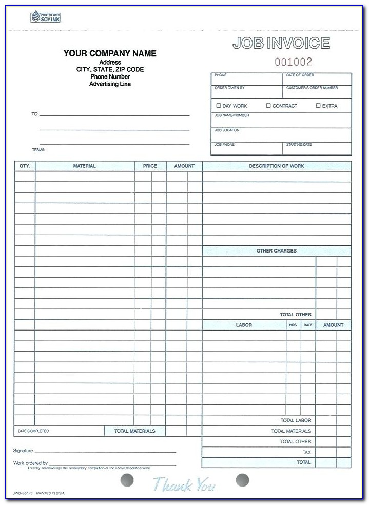Electrical Invoice Sample