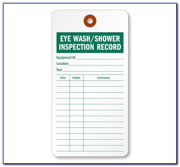Eyewash Inspection Template
