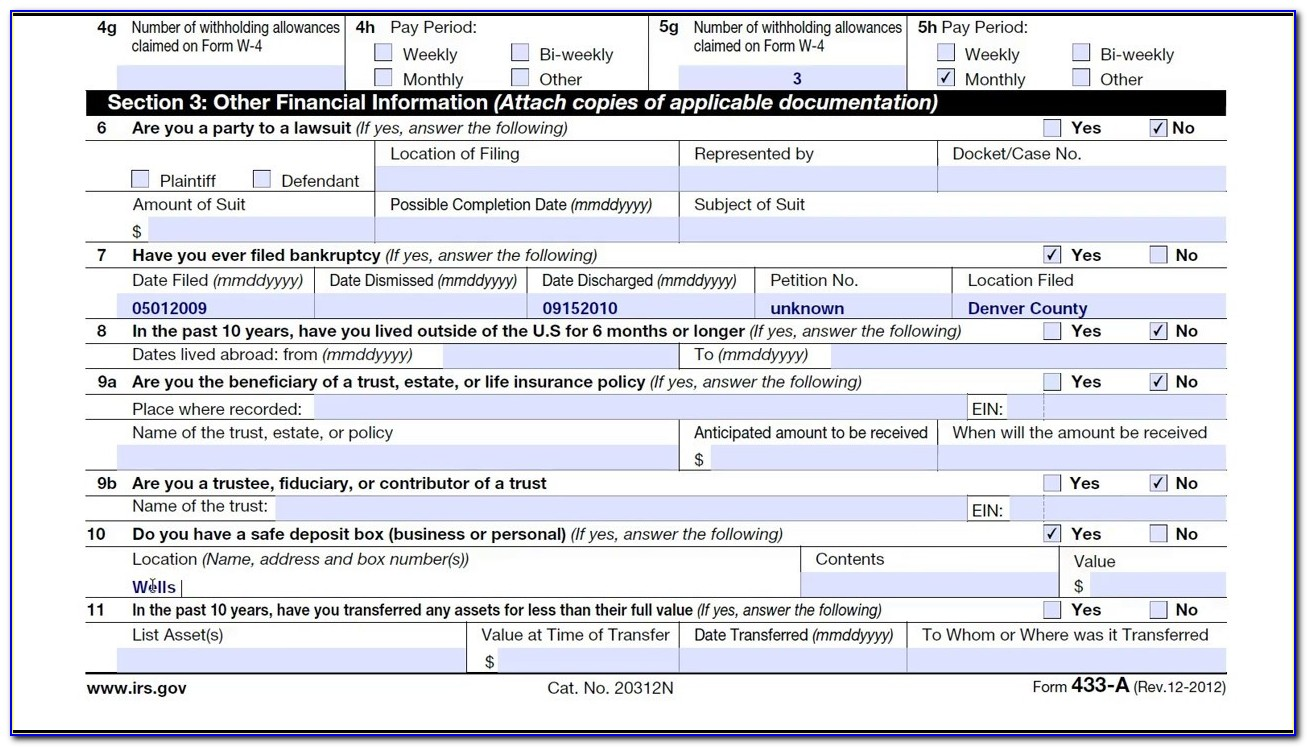 Fax Number For Irs Form 433 D