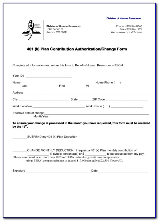 Fidelity 401k Enrollment Form