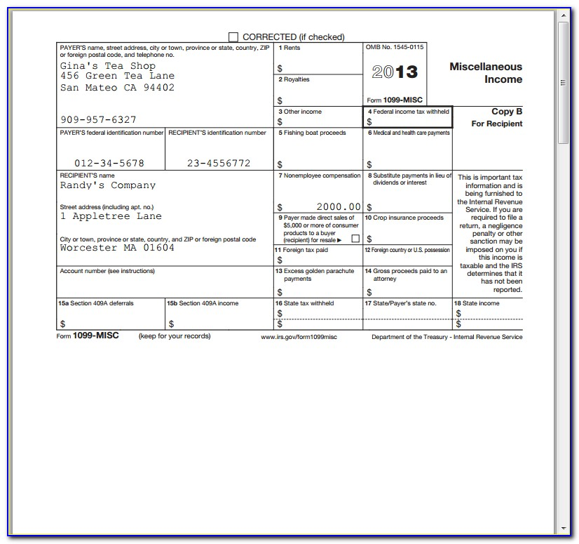 Filing Deadline Form 1099 Misc