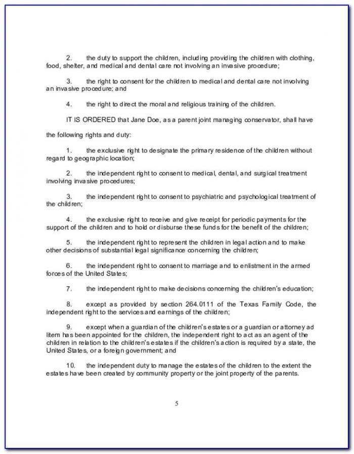 Final Divorce Decree Form