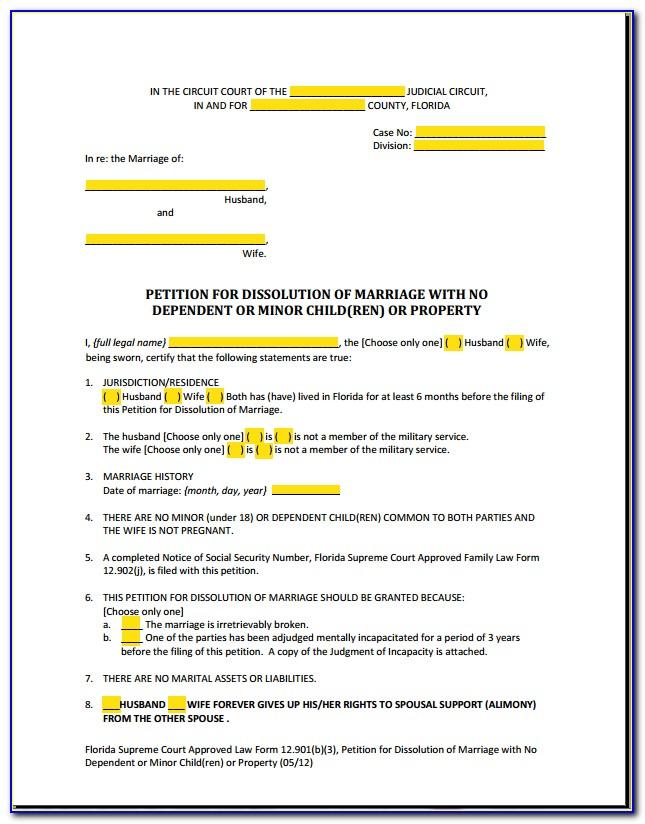 Florida Separation Agreement Sample