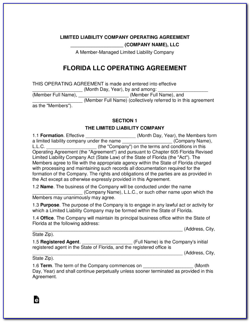 Forming A New Llc In Florida