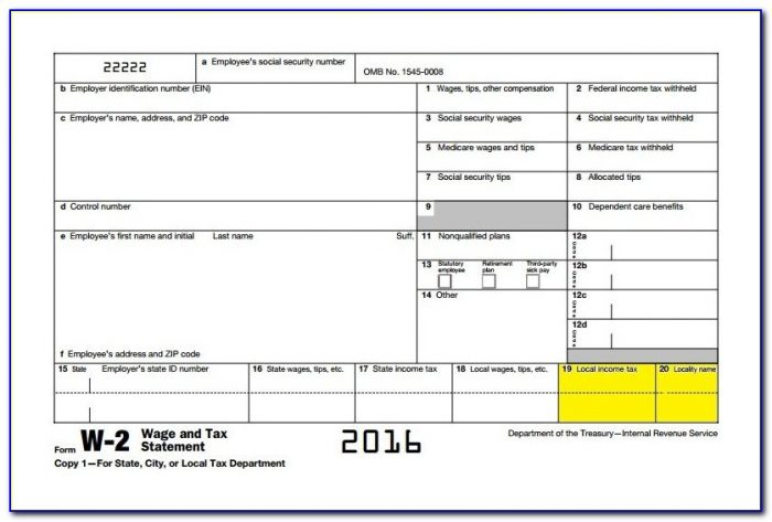 Free Blank W2 Forms Download