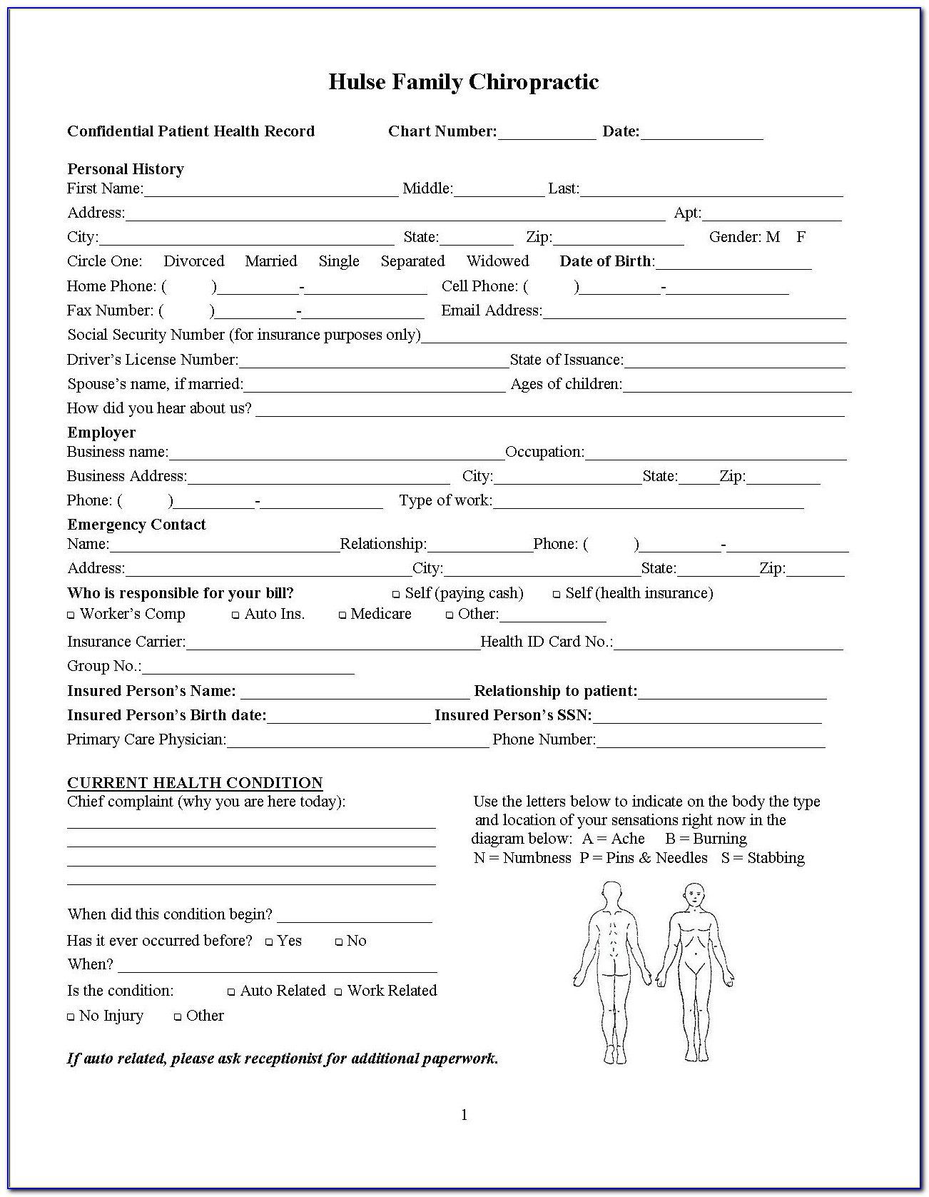 Free Chiropractic Examination Forms