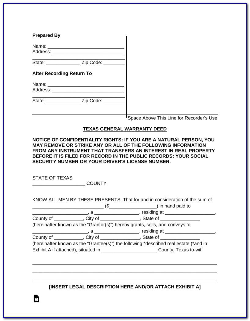 Free Colorado General Warranty Deed Form