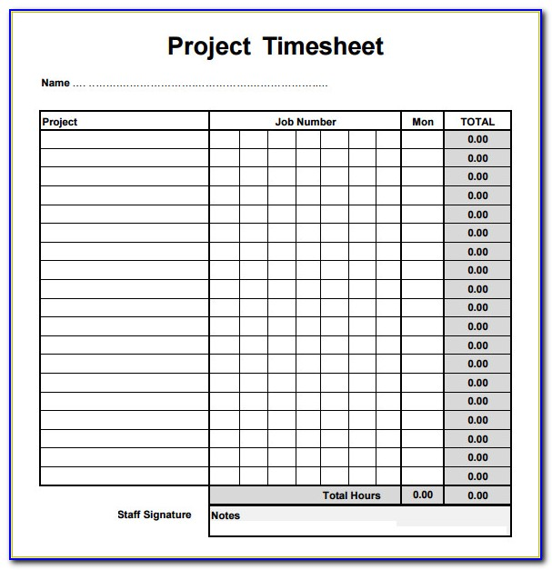 Free Daily Time Sheet Form
