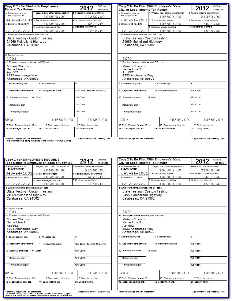Free Fillable W2 Form 2015