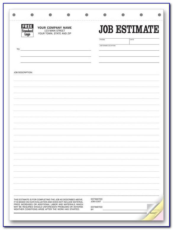 Free Job Estimate Forms