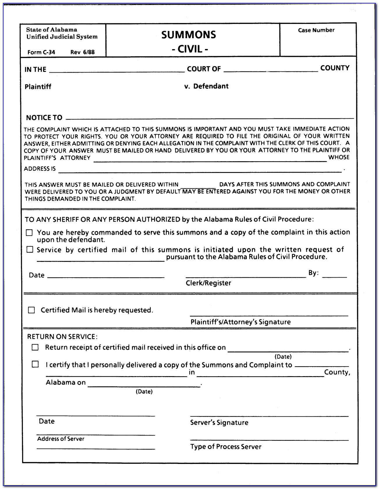 Free Legal Separation Forms Alabama