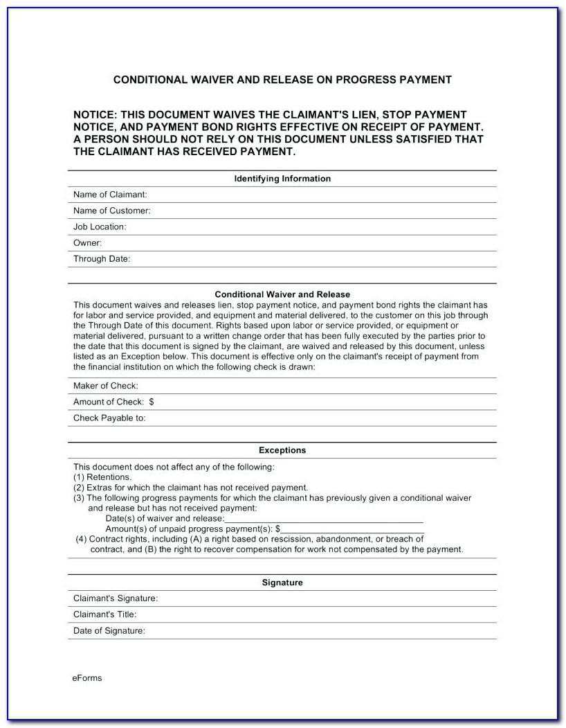Free Mechanics Lien Release Form