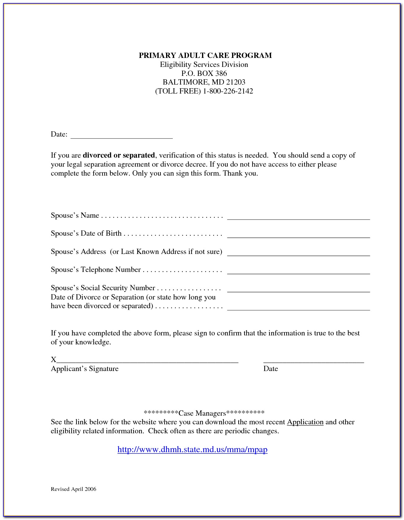 Free Nc Separation Agreement Form