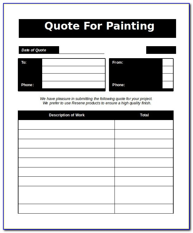 Word Estimate Template 5 Free Word Documents Download | Free Throughout Painting Estimate Template 2018