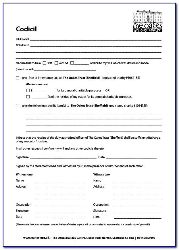 free printable codicil form uk  Free Printable Codicil Form Uk - Form : Resume Examples ...