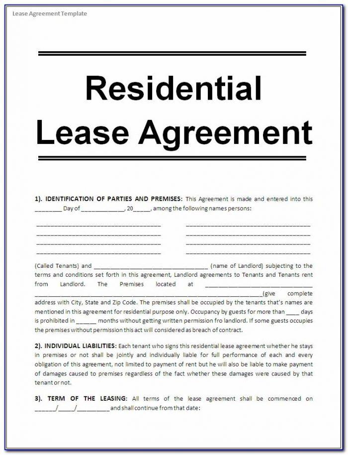 Free Printable House Rental Agreement Form