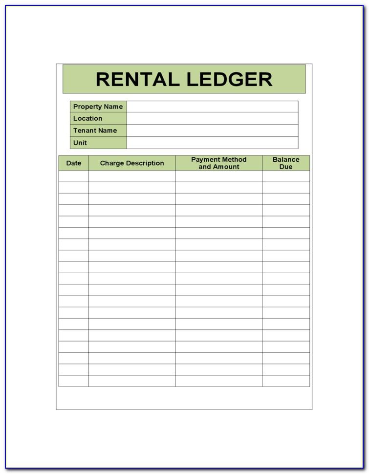 Free Rental Ledger Forms