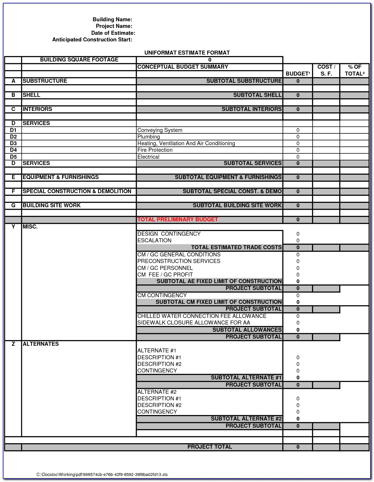 Free Roofing Proposal Forms