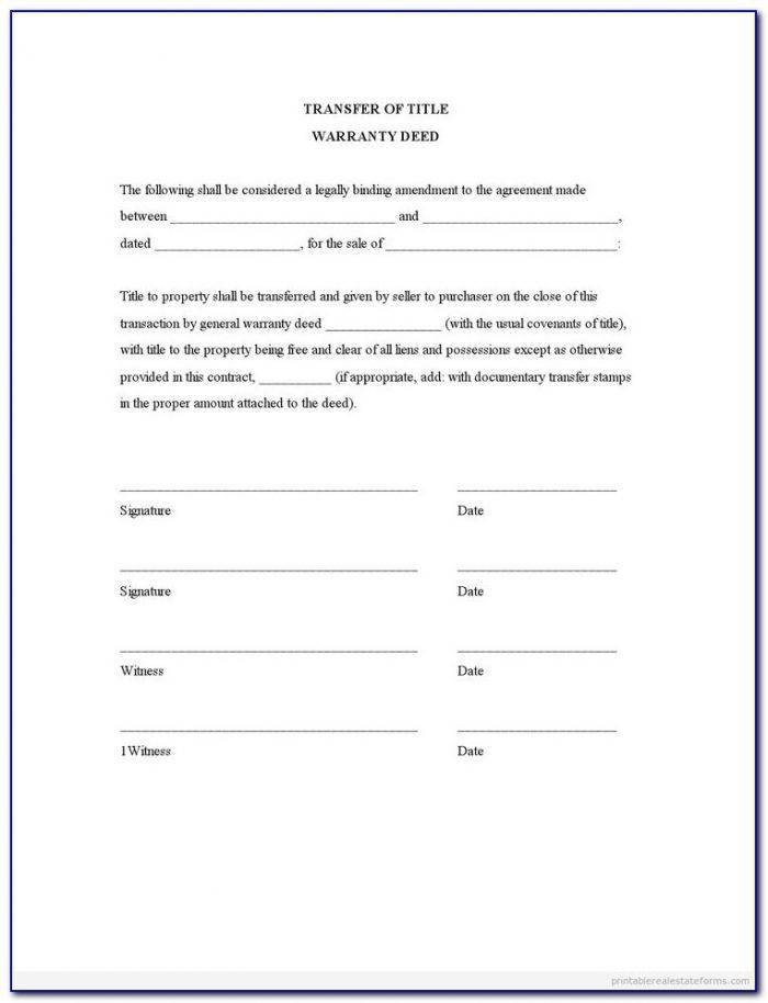 Free Texas Deed Transfer Form