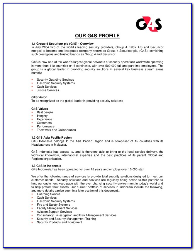 G4s Security Jobs Application Form