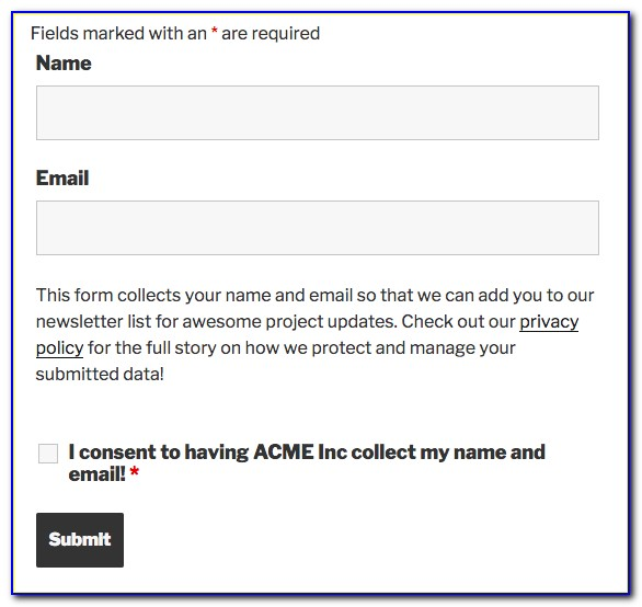 Gdpr Consent Form Template Ireland