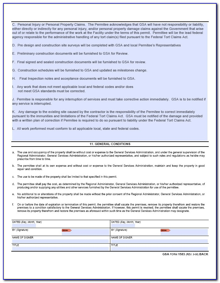 Gsa Request Format
