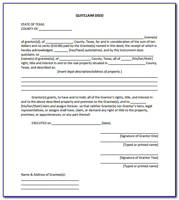 Hamilton County Indiana Quit Claim Deed Form