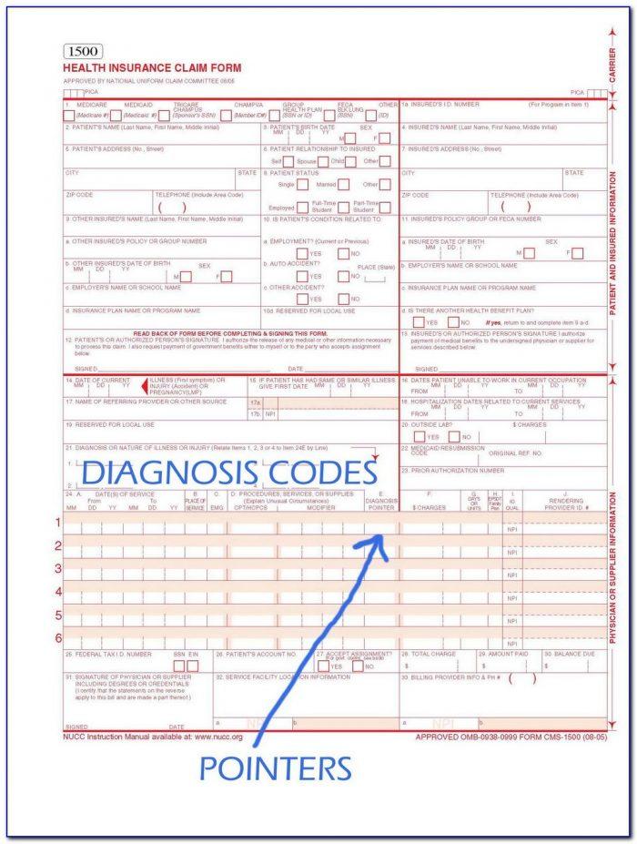 Hcfa Claim Form Sample