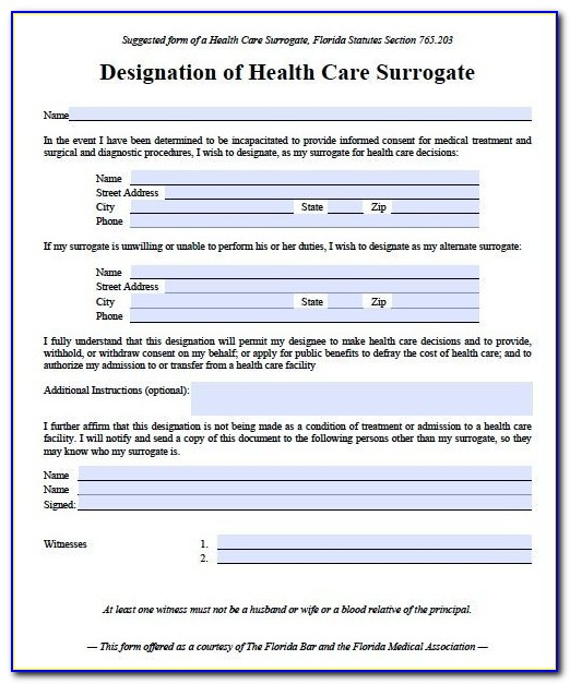 Healthcare Power Of Attorney Form Pa