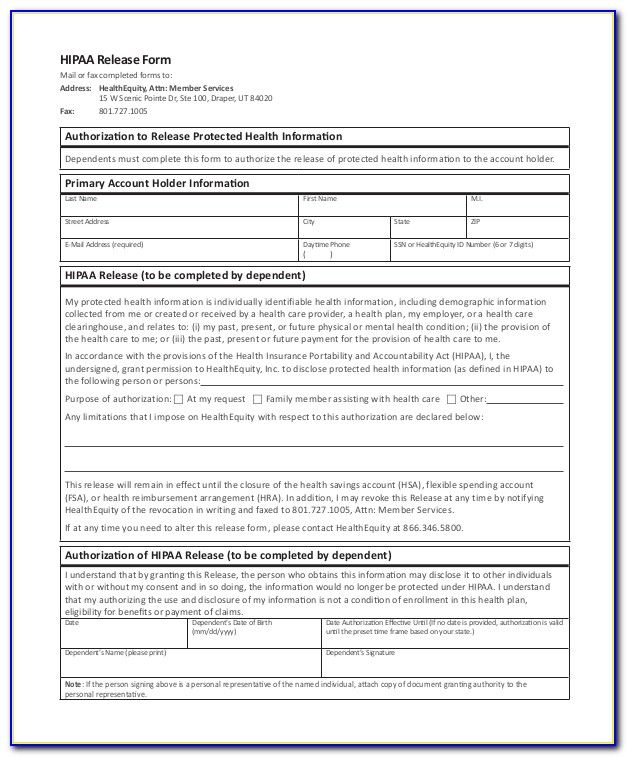 Hipaa Compliant Patient Forms